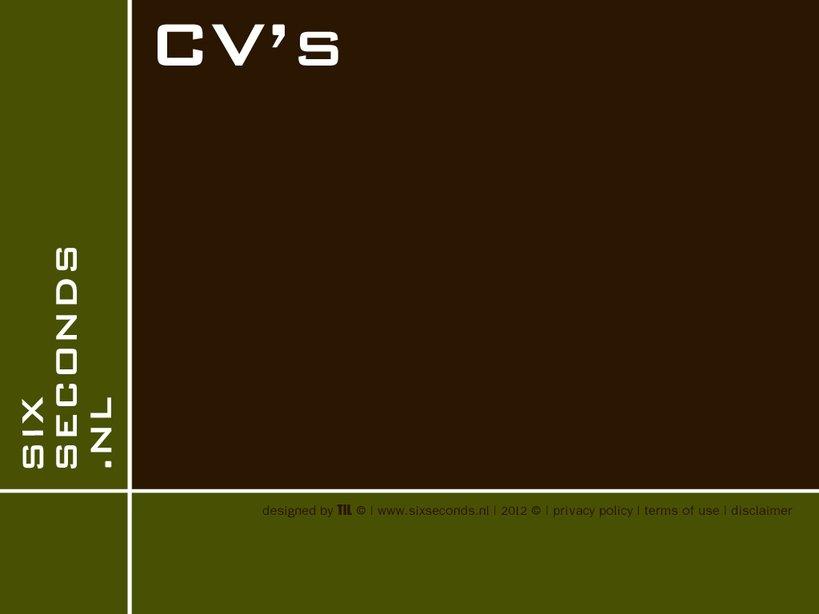 CV's Curriculum Vitae