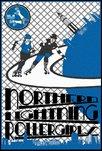 Poster ontwerp Northern Lightning Rollergirls Groningen Rollerderby © Six Seconds