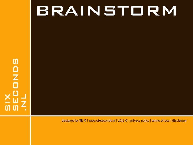 Brainstorm Six Seconds