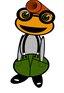 Friendly Frog Nerdy kikker © Six Seconds
